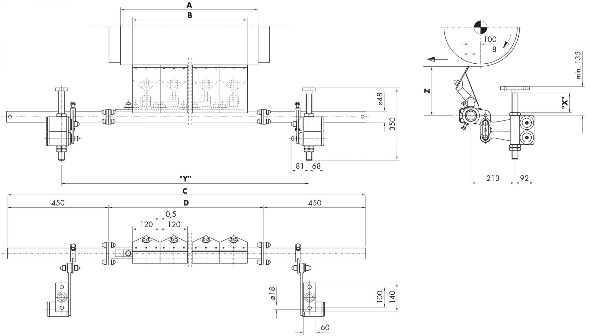 Hlavní stěrač na dopravní pásy HOSCH B6L-C
