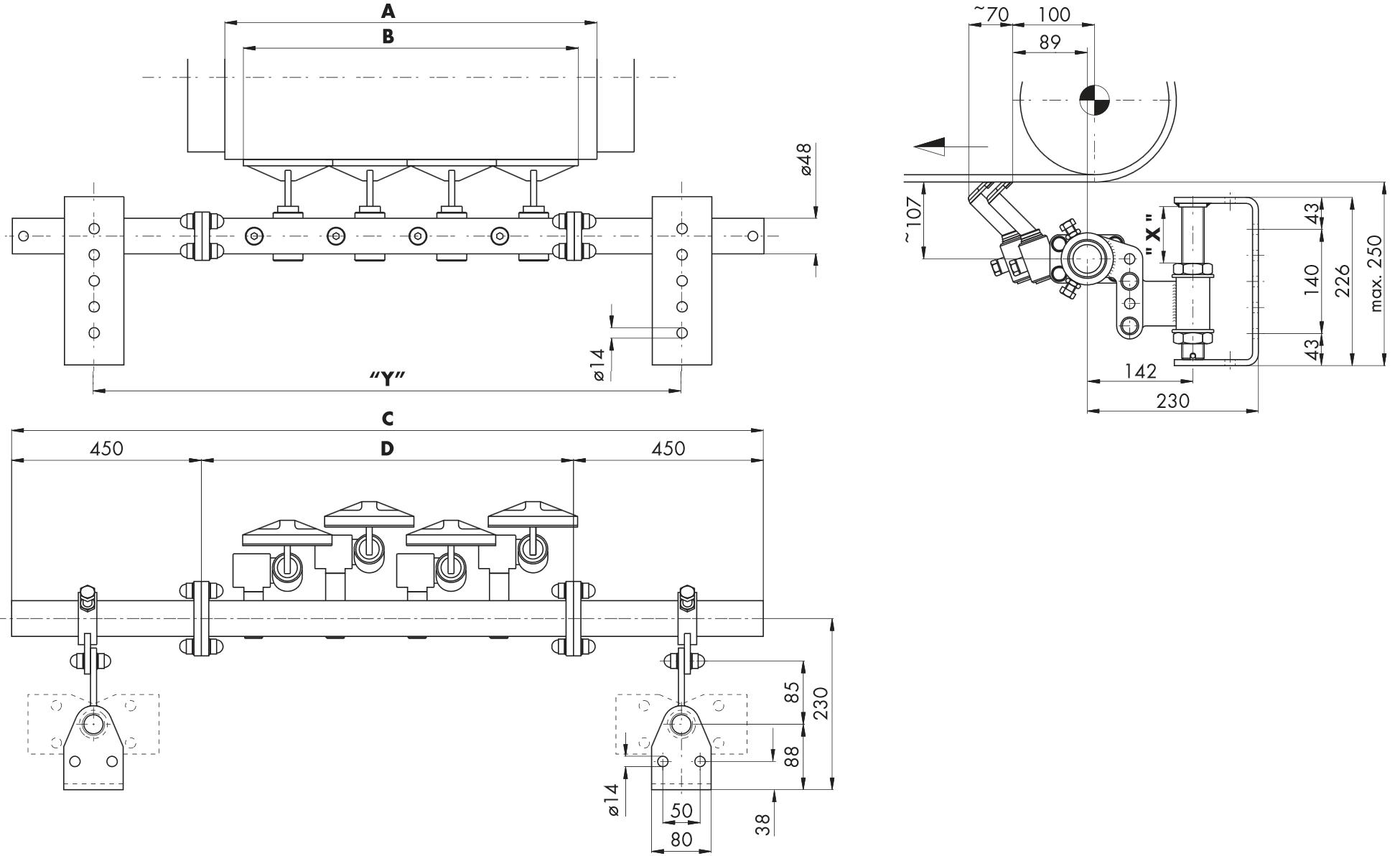 Hlavní stěrač na dopravní pásy HOSCH C1
