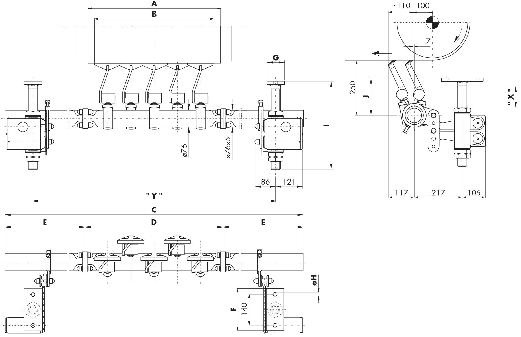 Hlavní stěrač na dopravní pásy HOSCH C2