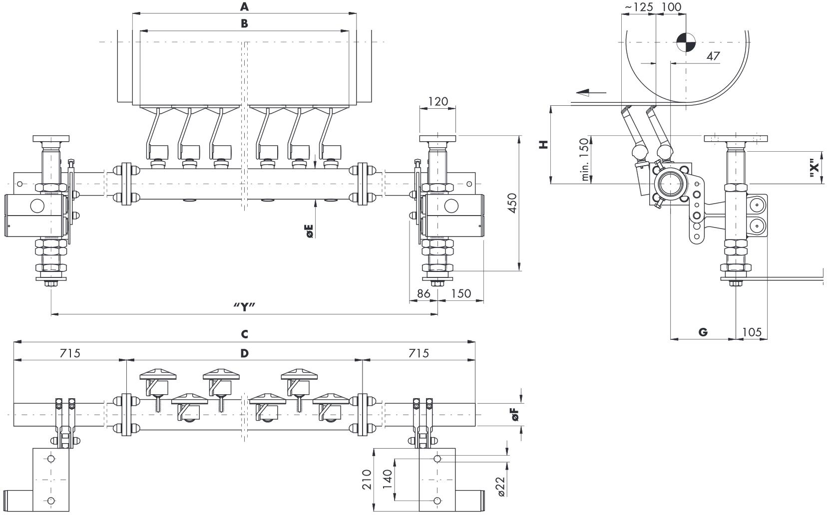 Hlavní stěrač na dopravní pásy HOSCH C3