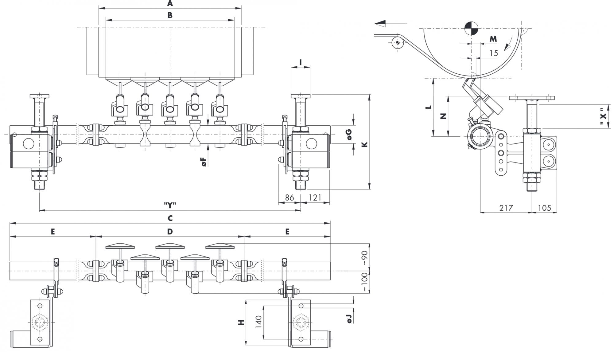 Hlavní stěrač na dopravní pásy HOSCH CT2/3