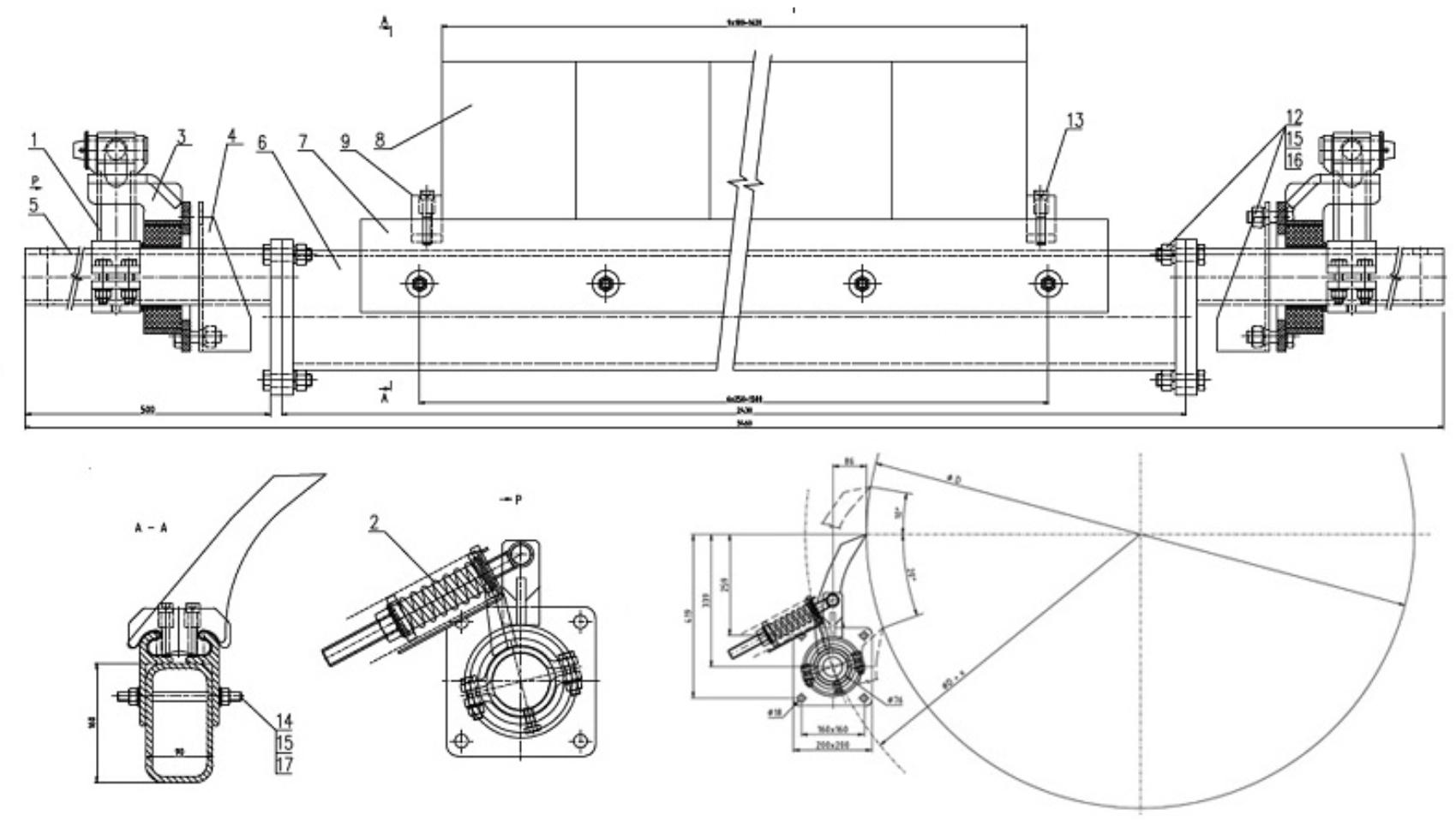 Stěrač dopravního pásu VVV MOST typ MA