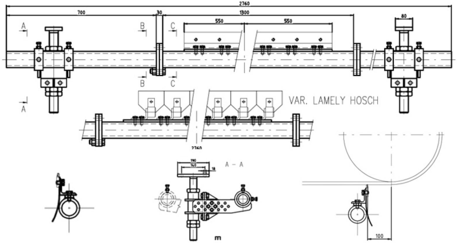 Stěrač dopravního pásu VVV MOST typ HBZ