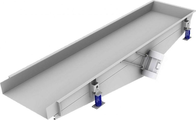 vibrační podavače, vibrační podavání materiálu a stolovém vibračním podavači